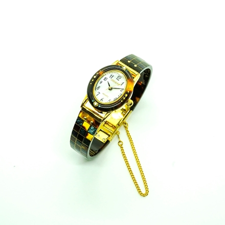 鼈甲市松螺鈿蒔絵時計